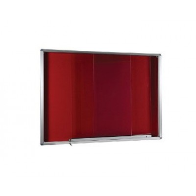 sliding glass notice board aluminium frame